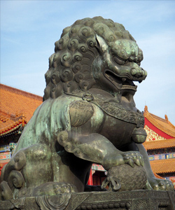 Statue in the Forbidden City