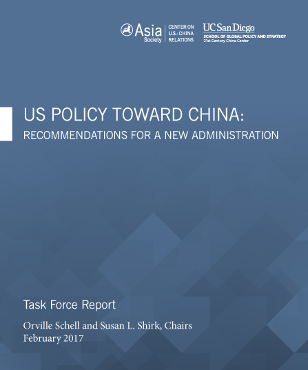 U.S. Policy Towards China: Recommendations for a New Administration